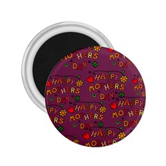 Happy Mothers Day Text Tiling Pattern 2.25  Magnets