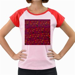 Happy Mothers Day Text Tiling Pattern Women s Cap Sleeve T-Shirt