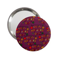 Happy Mothers Day Text Tiling Pattern 2 25  Handbag Mirrors