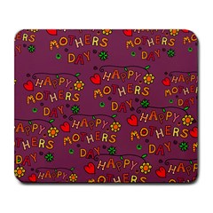 Happy Mothers Day Text Tiling Pattern Large Mousepads