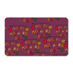 Happy Mothers Day Text Tiling Pattern Magnet (Rectangular)