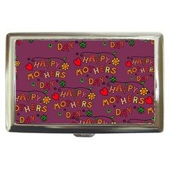 Happy Mothers Day Text Tiling Pattern Cigarette Money Cases