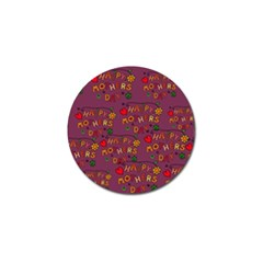 Happy Mothers Day Text Tiling Pattern Golf Ball Marker