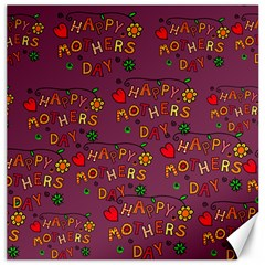 Happy Mothers Day Text Tiling Pattern Canvas 12  x 12
