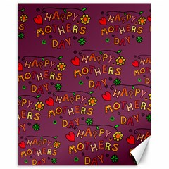 Happy Mothers Day Text Tiling Pattern Canvas 16  x 20