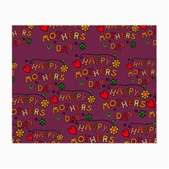 Happy Mothers Day Text Tiling Pattern Small Glasses Cloth (2-Side)