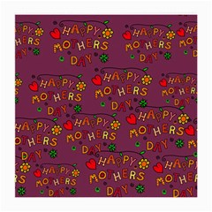 Happy Mothers Day Text Tiling Pattern Medium Glasses Cloth