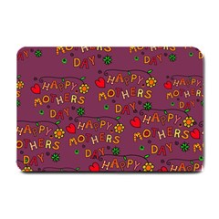 Happy Mothers Day Text Tiling Pattern Small Doormat