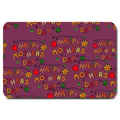 Happy Mothers Day Text Tiling Pattern Large Doormat