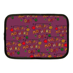 Happy Mothers Day Text Tiling Pattern Netbook Case (Medium)