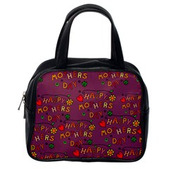 Happy Mothers Day Text Tiling Pattern Classic Handbags (One Side)
