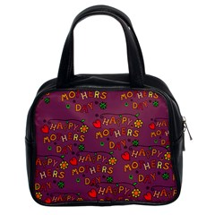 Happy Mothers Day Text Tiling Pattern Classic Handbags (2 Sides)