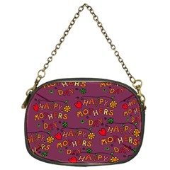 Happy Mothers Day Text Tiling Pattern Chain Purses (One Side)