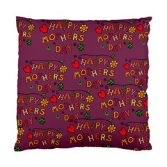 Happy Mothers Day Text Tiling Pattern Standard Cushion Case (Two Sides)