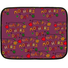 Happy Mothers Day Text Tiling Pattern Double Sided Fleece Blanket (Mini)