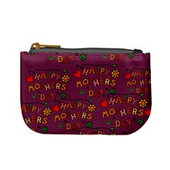 Happy Mothers Day Text Tiling Pattern Mini Coin Purses
