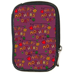 Happy Mothers Day Text Tiling Pattern Compact Camera Cases