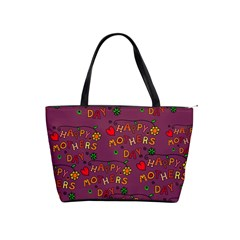 Happy Mothers Day Text Tiling Pattern Shoulder Handbags