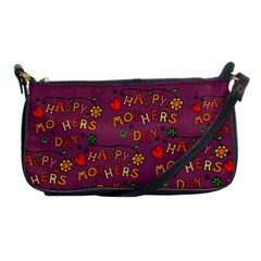 Happy Mothers Day Text Tiling Pattern Shoulder Clutch Bags