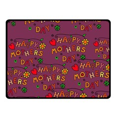 Happy Mothers Day Text Tiling Pattern Fleece Blanket (Small)