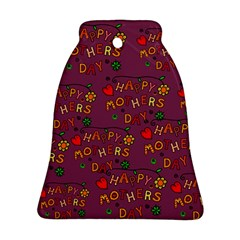 Happy Mothers Day Text Tiling Pattern Ornament (Bell)