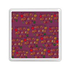 Happy Mothers Day Text Tiling Pattern Memory Card Reader (Square)