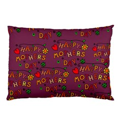 Happy Mothers Day Text Tiling Pattern Pillow Case (two Sides)