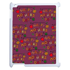 Happy Mothers Day Text Tiling Pattern Apple Ipad 2 Case (white)