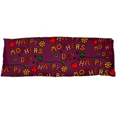 Happy Mothers Day Text Tiling Pattern Body Pillow Case Dakimakura (Two Sides)