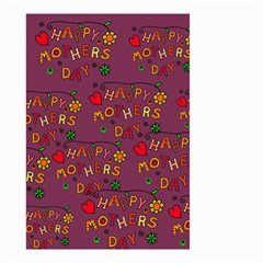 Happy Mothers Day Text Tiling Pattern Small Garden Flag (Two Sides)