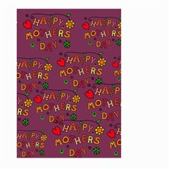 Happy Mothers Day Text Tiling Pattern Large Garden Flag (Two Sides)