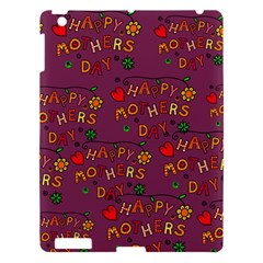 Happy Mothers Day Text Tiling Pattern Apple Ipad 3/4 Hardshell Case