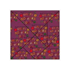 Happy Mothers Day Text Tiling Pattern Acrylic Tangram Puzzle (4  x 4 )