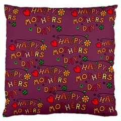 Happy Mothers Day Text Tiling Pattern Large Cushion Case (Two Sides)