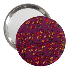 Happy Mothers Day Text Tiling Pattern 3  Handbag Mirrors