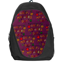 Happy Mothers Day Text Tiling Pattern Backpack Bag