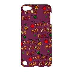 Happy Mothers Day Text Tiling Pattern Apple Ipod Touch 5 Hardshell Case