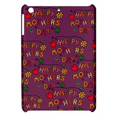 Happy Mothers Day Text Tiling Pattern Apple Ipad Mini Hardshell Case