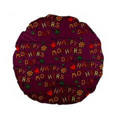Happy Mothers Day Text Tiling Pattern Standard 15  Premium Round Cushions