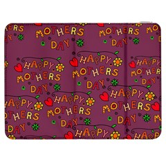 Happy Mothers Day Text Tiling Pattern Samsung Galaxy Tab 7  P1000 Flip Case
