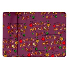 Happy Mothers Day Text Tiling Pattern Samsung Galaxy Tab 10.1  P7500 Flip Case