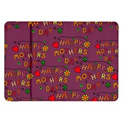 Happy Mothers Day Text Tiling Pattern Samsung Galaxy Tab 8 9  P7300 Flip Case