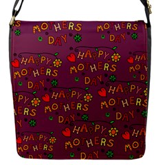 Happy Mothers Day Text Tiling Pattern Flap Messenger Bag (S)