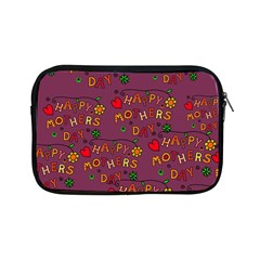 Happy Mothers Day Text Tiling Pattern Apple iPad Mini Zipper Cases