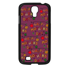 Happy Mothers Day Text Tiling Pattern Samsung Galaxy S4 I9500/ I9505 Case (black)