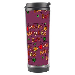 Happy Mothers Day Text Tiling Pattern Travel Tumbler