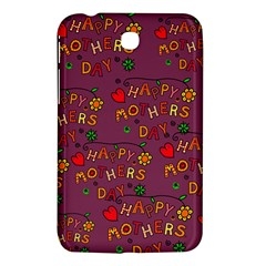 Happy Mothers Day Text Tiling Pattern Samsung Galaxy Tab 3 (7 ) P3200 Hardshell Case