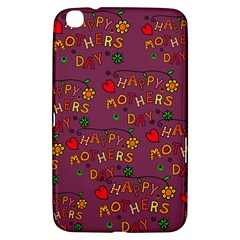 Happy Mothers Day Text Tiling Pattern Samsung Galaxy Tab 3 (8 ) T3100 Hardshell Case