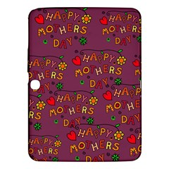 Happy Mothers Day Text Tiling Pattern Samsung Galaxy Tab 3 (10.1 ) P5200 Hardshell Case