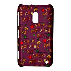 Happy Mothers Day Text Tiling Pattern Nokia Lumia 620